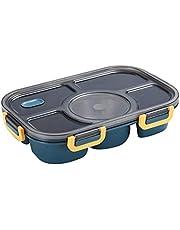 Uonlytech Bento lunchlåda måltid prep behållare återanvändbara 5 fack delar upp livsmedel förvaring behållare lådor lunch behållare (A)