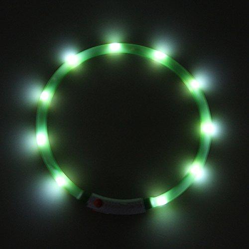 Collare per tubo in silicone luminoso PRECORN LED USB Collar tubo luminoso di sicurezza ricaricabile