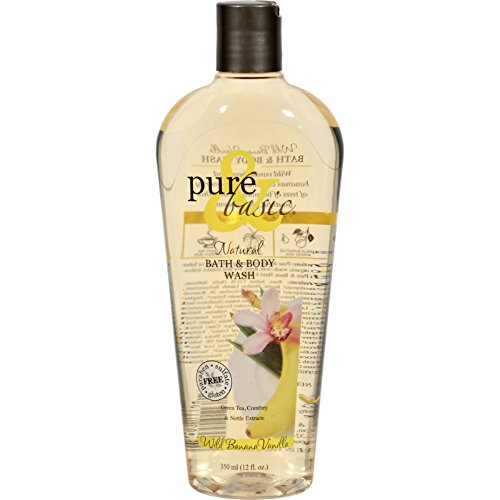 Pure and Basic Natural Bath and Body Wash Wild Banana Vanilla - Paraben Free - Gluten Free - 12 fl oz (Pack of - Wild Free Paraben Banana