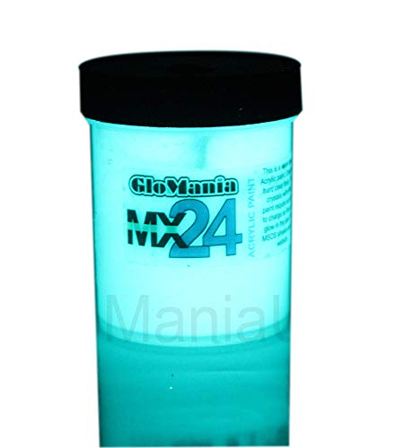 MX24 Extreme Glow in The Dark Paint Daytime Invisible Aqua 2 Ounces]()