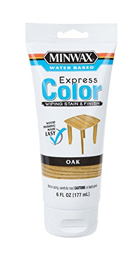 (Minwax 308014444 6 Oz Oak Water Based Express Color Wiping Stain & Finish)