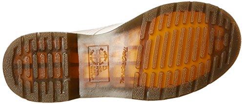 Dr. Martens Kvinnor 1460 8-eye Lackläder Stövlar, Vit Patent Lamper, 11 B (m) Oss