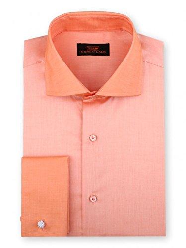 Steven Land Iridescent Dress Shirt | 100% Cotton | French Cuff | Spread Collar -
