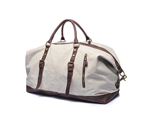 L Voyage Godwin Horseskin Sacs Toile Hommes Bags Mode color De Rétro Shoulder Pour Size Sac Crazy Jeffrey White Embroidery Beige En tH4qwFw
