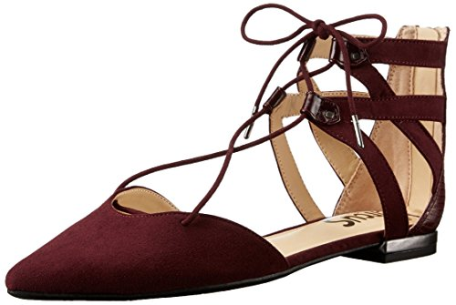 30 Year Old Port (Gimekiss Pumps Women's Haven Pointed-Toe Flat Port Wine9.5 B(M) US)