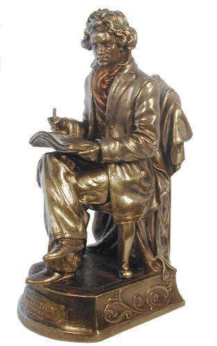 Beethoven Statue, Bronze Powder Cast 9.75-in