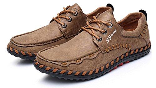 vieja los la calza los zapatos hombres ocasionales del gra Tamaño los calza zapatos HYLM costura los los Beijing La de de los caucho zapatos deportes respirables zapatos de color dark khaki ocasionales de respirable x0qPwx5ZtR