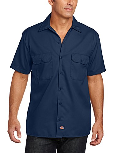 Dickies Courtes Chemise Navy Homme Manches Work rA4Yxr