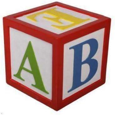 Amazon Com Lm Treasures Letter Block Alphabet Prop Resin Decor Home Kitchen