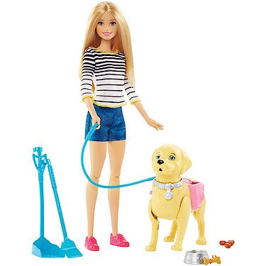 (Barbie Walk & Potty Pup, Blonde)