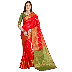 EthnicJunction art silk with blouse piece Saree