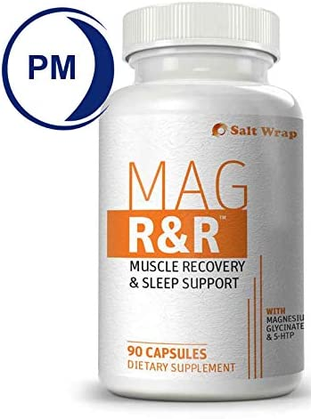 SaltWrap Mag R&R - Prevent & Relieve Night Leg Cramps, Spasms, Tension & Muscle Pain - Natural Muscle Relaxer Supplement with Magnesium Glycinate – Sleep Aid for Muscle Cramp Relief, 90 Capsules