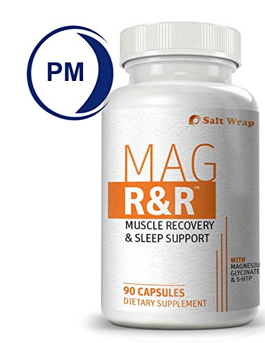Mag R&R Natural Muscle Relaxation Supplement for Night Leg Cramps, with Magnesium Glycinate - Natural Remedy for Muscle Cramp Relief, Spasms, Recovery and Sleep, 90 Capsules