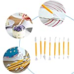 118 pcs Cake Decorating Supplies Kit Cake Baking Tools Cupcake Icing Tools Pastry Tools Cake Spinner Stand Cake Turntable 55 Cake Decorating Stainless Steel Tips for Kid Teen Beginner Birthday Party 13 REVOLVING CAKE TURNTABLE : Turns smoothly in clockwise or anticlockwise direction, allow you easily creating beautiful borders when decorate cakes. SAFETY MATERIAL : Cake piping set is made from high quality materials, quality stainless steel and durable plastic for fun & easy cake decorating. NO EXPERIENCE REQUIRED : With the accompanying guides and e-books, anyone can use these high-quality baking tools to make professional-looking cakes! This cake decor will help you make delicious cakes for your occasion at home.