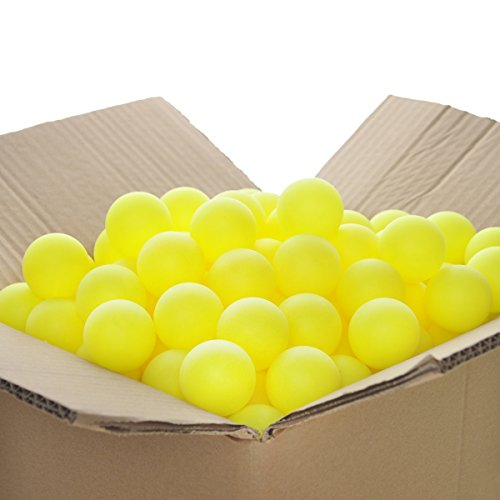 GOGO Pack of 150 Beer Ping Pong Balls 40mm Decoration Balls Assorted Colors-Neon Yellow