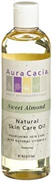 Aura Cacia Natural Skin Care Oil, Sweet Almond, 16-Ounces Pack of 2