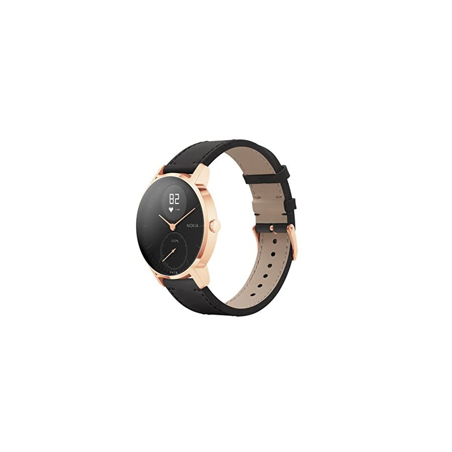 Withings / Nokia | Steel HR Hybrid Smartwatch Activity Tracker, Heart Rate Monitor, Sleep Monitor, Water Resistant Smart Watch with Connected GPS and 25 day battery life