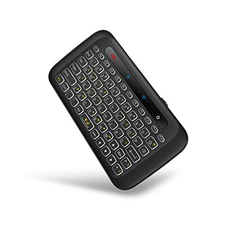 H20 Mini Wireless Handheld Keyboard Remote with Touchpad Mouse Combo Backlit 2.4Ghz Rechargeble Work with USB Receiver for Computer,Android Tv Box,HTPC,IPTV,PC,Windows,OS etc