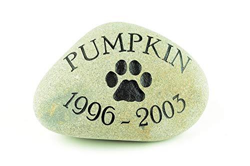 GraphicRocks River Rock Pet Memorial Stone 8 inch (Stone Pet Memorial)