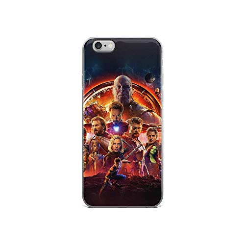 iPhone 6/6s Pure Clear Case Cases Cover Avengerss Superheros Shield Thanos Captains of America Man of Iron Spider Man Black Widow Guardians of Galaxy Black Panther (Guardians Of The Galaxy Captain America Shield)