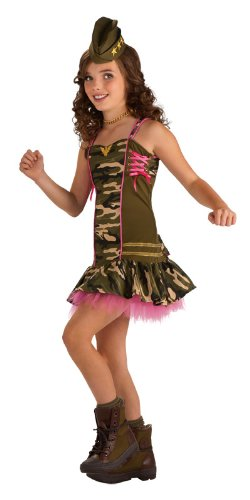 [Rubie's Drama Queens Tween Army Brat Costume - Tween Medium (2- 4)] (Military Costumes For Teens)