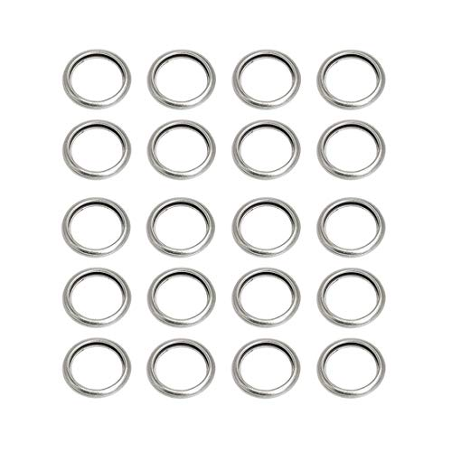 UTSAUTO M16 Oil Drain Plug Gaskets Crush Washers Sealing Washers Rings 803916010 for Subaru Outback Crosstrek Forester WRX BRZ Impreza (20 Pcs)