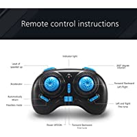 Longess Flip Mini Quadcopter balance RC Drone with 2.4G 6 AXIS gyro Headless Mode Remote Control, Child Toys (Blue)