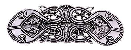 VASSAGO Antique Retro Harmony Celtic Irish Knot Trinity Triquetra Hairclip Barrette Hairpin Ponytail Holder for Women Girls (Antique Silver 5) ()