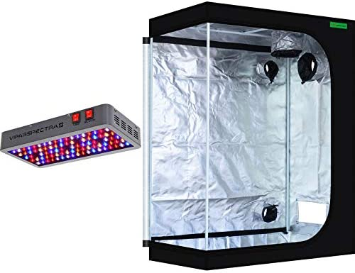 VIPARSPECTRA 48 x24 x60 Mylar Hydroponic Grow Tent UL Certified 450W LED Grow Lights Complete Kit for Indoor Plant Growing