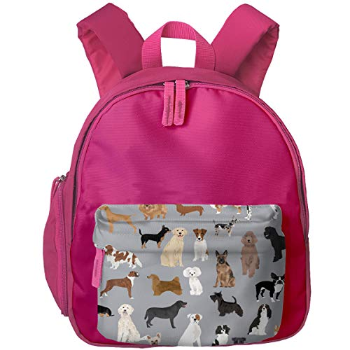 Mixed Dog Lots Of Dogs Art Print Pattern Grey Children's/Kids School/Nursery/Picnic/Carry/Travelling Bag Backpack Daypack -