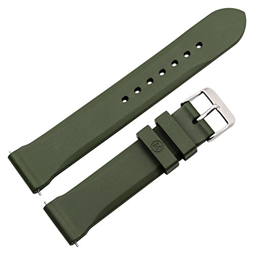 MARATHON Divers Model Rubber Watch Band/Strap (20 mm, Green). Made in Italy
