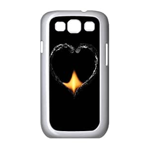 wugdiy New Fashion Cover Case for Samsung Galaxy S3 I9300 with custom Fire Heart