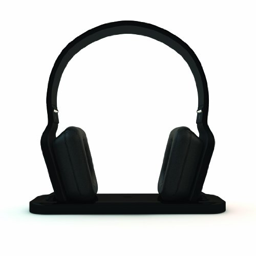 BeeWi Bluetooth Stereo Headphones with Hi-Fi Docking Station Black [BBH300-A0]