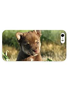 3d Full Wrap Case for iPhone 5/5s Animal Brown Puppy