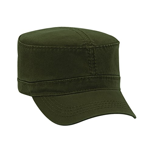 Heavy Garment Washed Cotton Cap (Superior Garment Washed Cotton Twill W/ Heavy Stitching Military Style Caps)