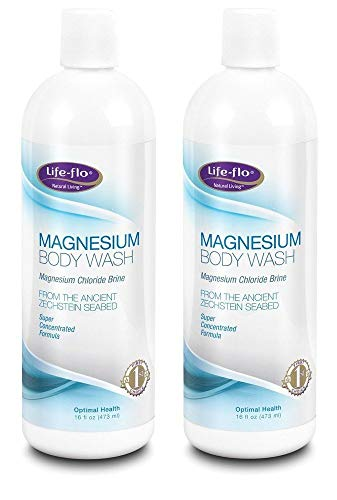 Magnesium Body Wash Life Flo Health Products 16 oz Liquid Pack of 2