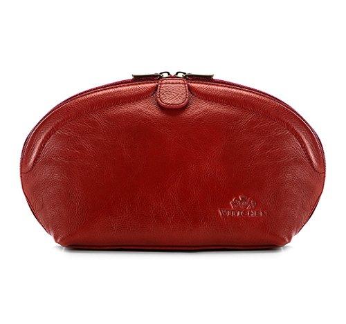 3 Largeur Rouge cm Rouge grain cm 3 Vanity Wittchen La 381 de taille Italy 21 x Couleur Cuir Collection 17 32 HwPx8qS4