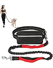 CestMall Dog Running Leash Hands Free Dog Leash for Small and Medium Dog, Dog Waist Leash for Running, Training, Walking Up to 33 Ib, Adjustable Waist Belt with Pack, Reflective Stitches