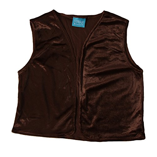 Boys Victorian Vest, Brown, M/L -