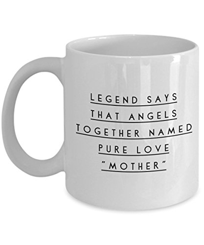 (Funny 11Oz Coffee Mug, Legend Says That Angels Together Named Pure Love