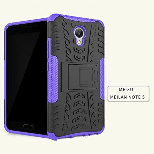 FALIANG Meizu M3 Note Funda, 2in1 Armadura Combinación A Prueba de Choques Heavy Duty Escudo Cáscara Dura para Meizu M3 Note (Hot pink) Púrpura
