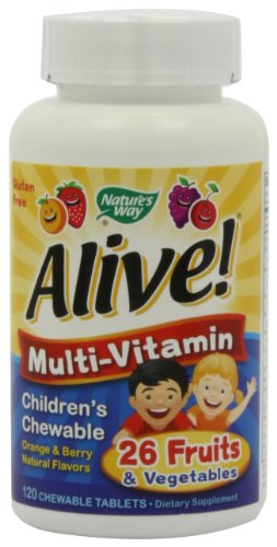 Nature's Way Alive Children's Multi-Vitamin Chewable Tablets 240 240 Tabs Natures Way