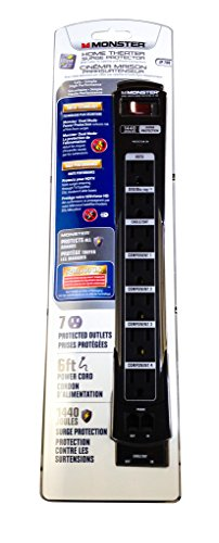 Monster MP JP 700 Home Theater Surge Protector w/ 7 Outlets - 1440 Joules