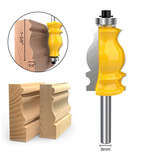 8mm Shank Architectural Molding Router Bit Carbide Sculpture Fishtail Cutter Woodworking Shape Cutter Tool