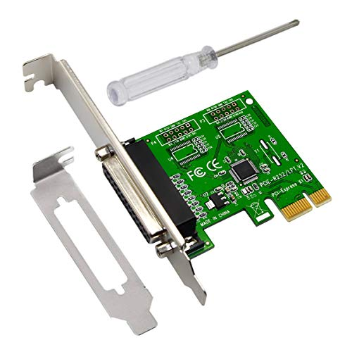 Ubit PCI Express to DB25 LPT Printer Card 25 pin Interface Card Express Dual Profile Parallel Adapter Card - SPP/EPP/ECP - 2X DB25 IEEE 1284 PCIe Parallel Card Dual Parallel Pci Card