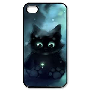 Hard Shell Case Of Lovely Cat Customized Bumper Plastic case For Iphone 4/4s by supermalls