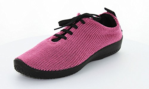 Donna Arcopedica Ls Tie Knit Oxford Fuschia