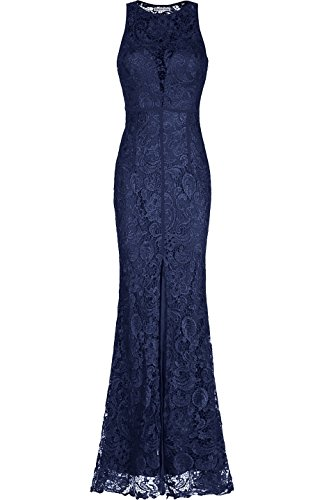 Lace Back Evening Gown - 4