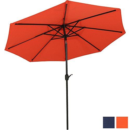 Sunnydaze 9-Foot Aluminum Patio Umbrella, Fade Resistant