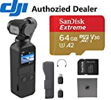 DJI OSMO Pocket - 4K/60FPS Handheld 3-Axis Action Camera with 64 GB Extreme microSD Card